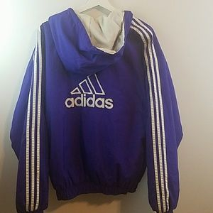 Adidas Hooded M Spell Out Zip Up Jacket